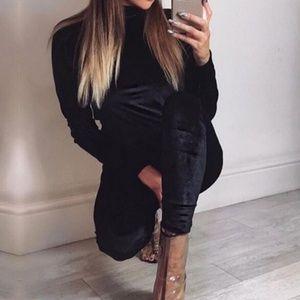 Black Velvet Leggings